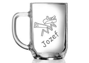 darčeky pre kutilov, poháre s menom