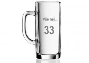 poháre s číslom - darčeky pre ženy i mužov k 33 tke