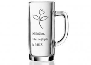 darček pre ženu k MDŽ - pohár s kytičkou