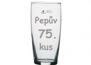 originálný daček - brúsené pivné poháre s číslami a menom