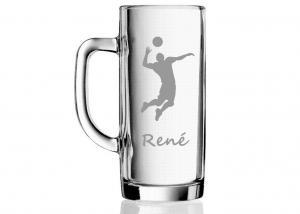 darček pre volejbalistu - originálne poháre s menom, motívom športu