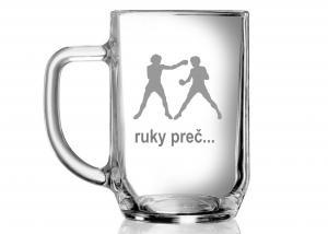 Darček pre chlapa - pohár na pivo s motívom boxera