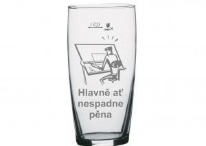 netradičný darček pre muža, vtipný pohár pre architekta