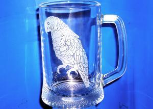 brúsený pohár s vlastným motívom na želanie