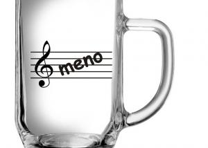 pohár s vygravírovaným menom - darček pre hudobníka