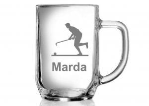poháre s obrázkom a menom hráča - originálne darčeky pre hráča pozemného hokeja