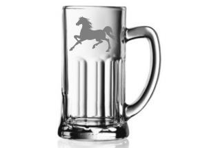 pohár na pivo s koňom