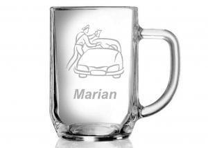 darčeky pre policajtov - pivný pohár s menom