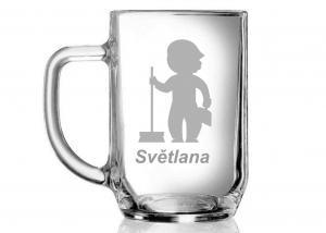 pohár s menom - darček pre kolegyňu, upratovačku