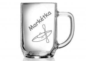 darček pre vodačku - pohár s menom ako dar pre kamošku
