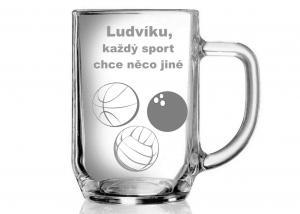 vtipný pohár - darček pre športového fanúšika