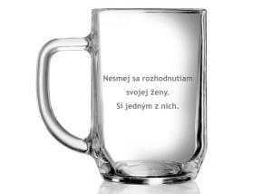 svadobný dar pre novomanžela - pohár s vtipným nápisom