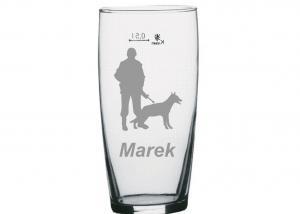 darček pre vojáka, kynológov - pohár s menom