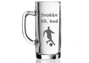 darčekový pohár k 55. narodeninám pre futbalistu