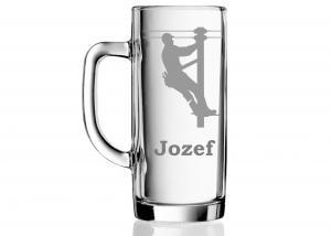 darček pre elektrikára - pohár s menom Jozef