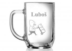 pohár s menom - darček pre vedúceho