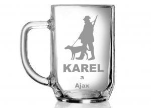 darček pre poľovníka - gravírovaný pohár s menom