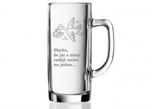 darček pre čerstvého otca - vtipný pohár na pivo