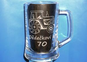 Polliter s traktorom pre dedka - darček k sedemdesiatke