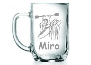 darček pre vodáka - polliter na pivo s menom