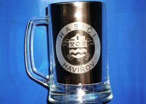 pohár s hasičským motívom - darček pre hasičov
