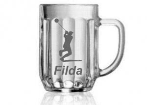dar pre muža - pohár na pivo s menom a motívom na želanie