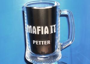 osobný pohár s menom a logom hry mafia