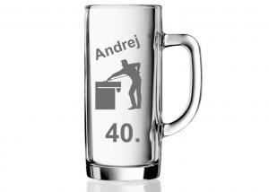 dar pre muža k narodeninám, k štyridsiatke, pohár s 40